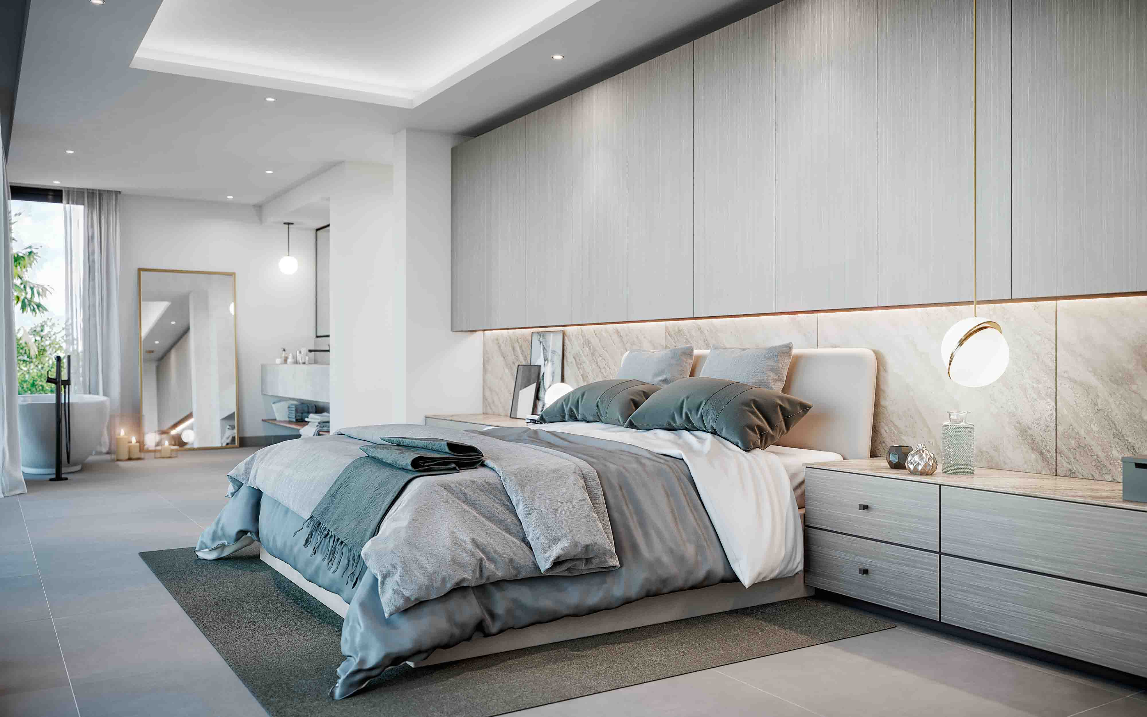 Bedroom suite modern villa example